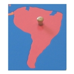 South America - Puzzle Piece Of World Parts (Wood Knob)