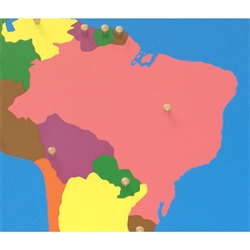 Brazil - Puzzle Piece Of South America