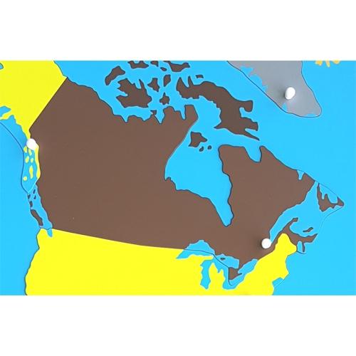 Canada Puzzle Piece Of North America Plastic Knob
