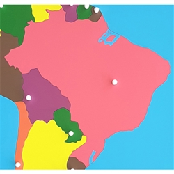 Brazil - Puzzle Piece Of South America (Plastic Knob)