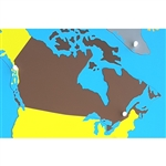 Canada - Puzzle Piece Of North America (Plastic Knob)